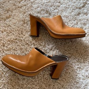 Donald J Pliner | Leather Slip On Mule Booties- 10